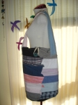 Shirt collars REfashioned into a Tote Bag
