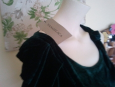 Vangelica brand with tag 100% polyester crecian style dress, made in China