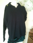 Burton Menswear lambswool jumper. The green bottom half is the Vangelica dress