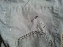 # 3 Levis back left pocket