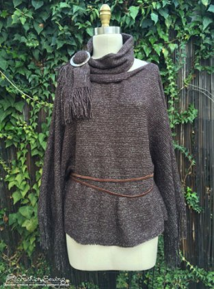 From poncho to tunic top and scarf