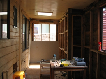 Enclosed verandah before renovation