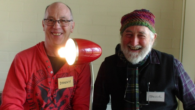 RUDE Boy Danny fixed Trevor's lamp at Castlemaine Repair Cafe